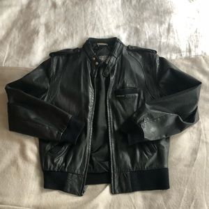 Vintage Leather Members Only Bomber Jacket